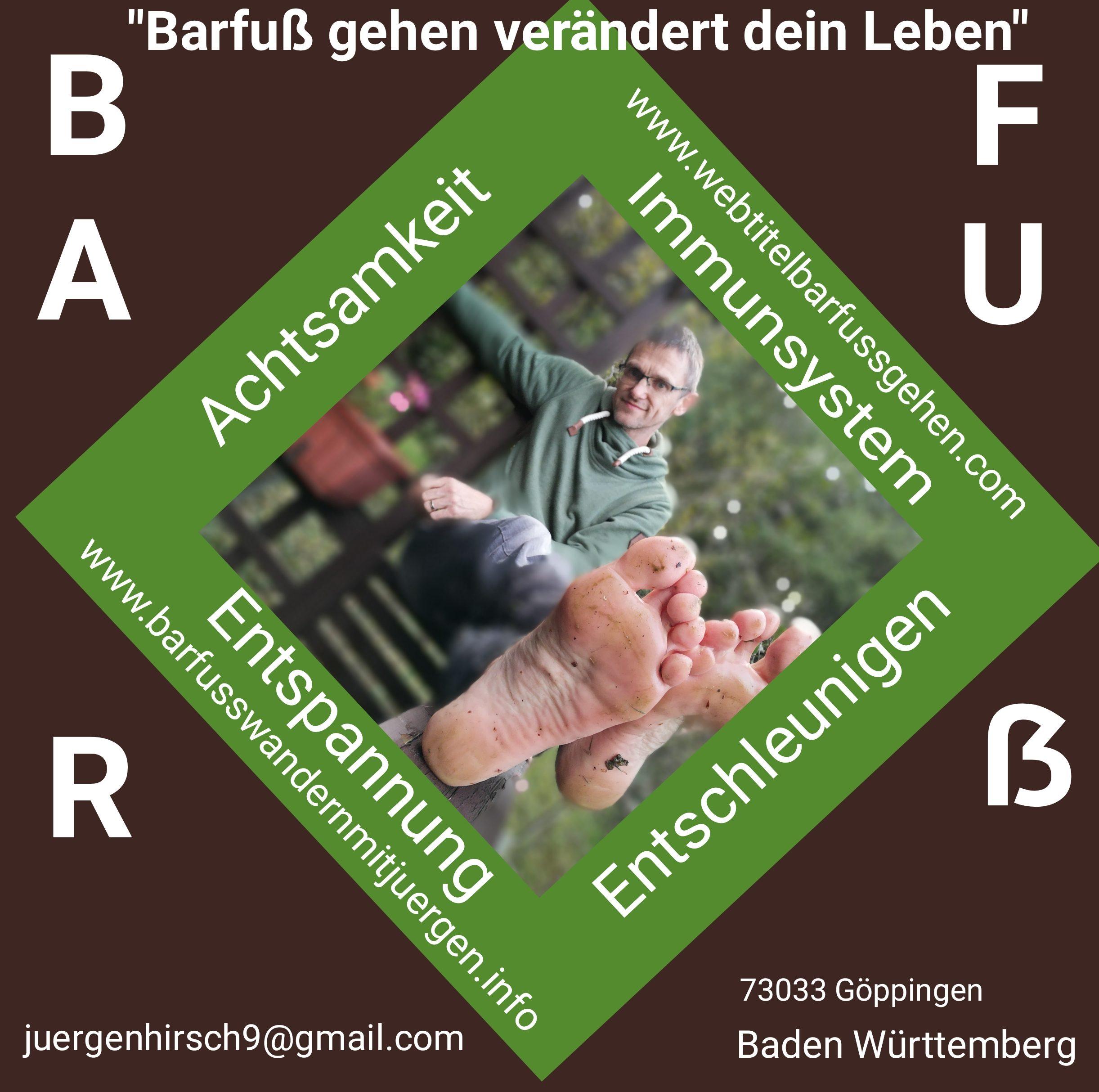 """NEU"" Barfuß wandern mit Jürgen/ Baden Württemberg"